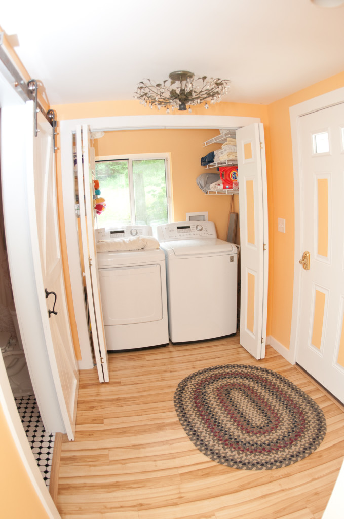 Arguably the best part - a washer and dryer.  You hardly have to pack a thing!